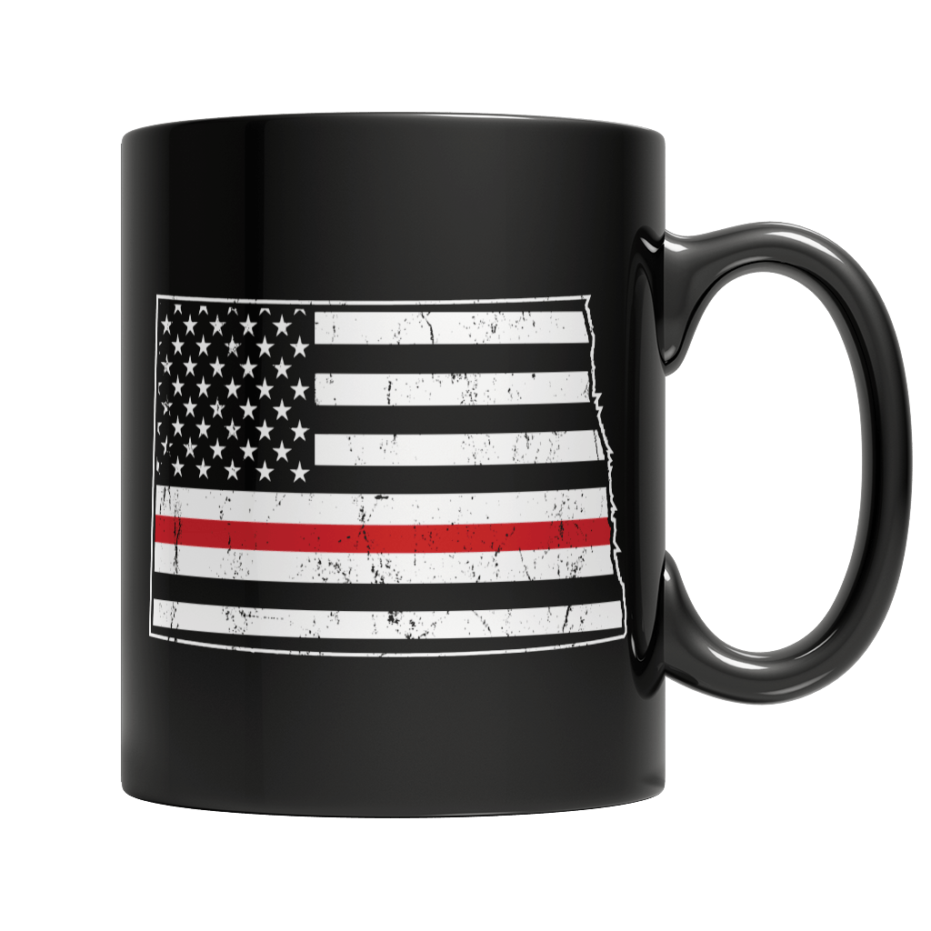 Limited Edition Firefighters - I fight what you fear North Dakota Brotherhood 11oz Black Mug 11oz Black Mug Black 11oz