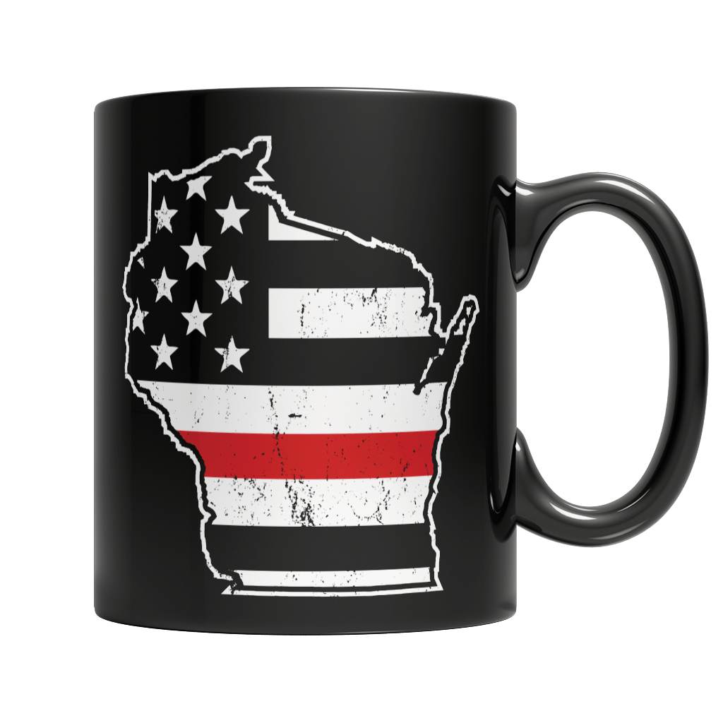 Limited Edition Firefighters - I fight what you fear Wisconsin Brotherhood 11oz Black Mug 11oz Black Mug Black 11oz