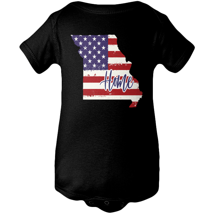Missouri Home Apparels BABY/INFANT ONESIE Black NB