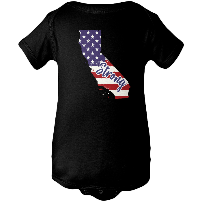 California Strong Apparels BABY/INFANT ONESIE Black NB