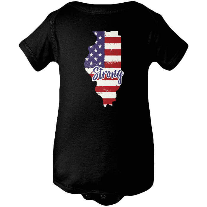 Illinois Strong Apparels BABY/INFANT ONESIE Black NB