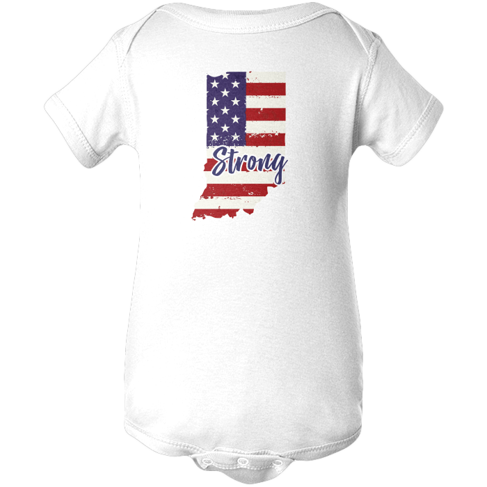 Indiana Strong Apparels BABY/INFANT ONESIE White NB