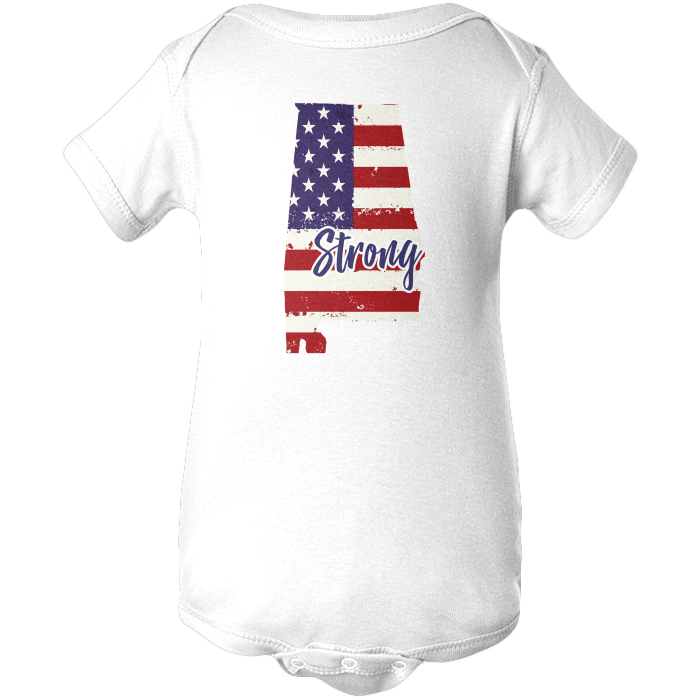 Alabama Strong Apparels BABY/INFANT ONESIE White NB