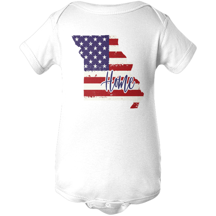 Missouri Home Apparels BABY/INFANT ONESIE White NB