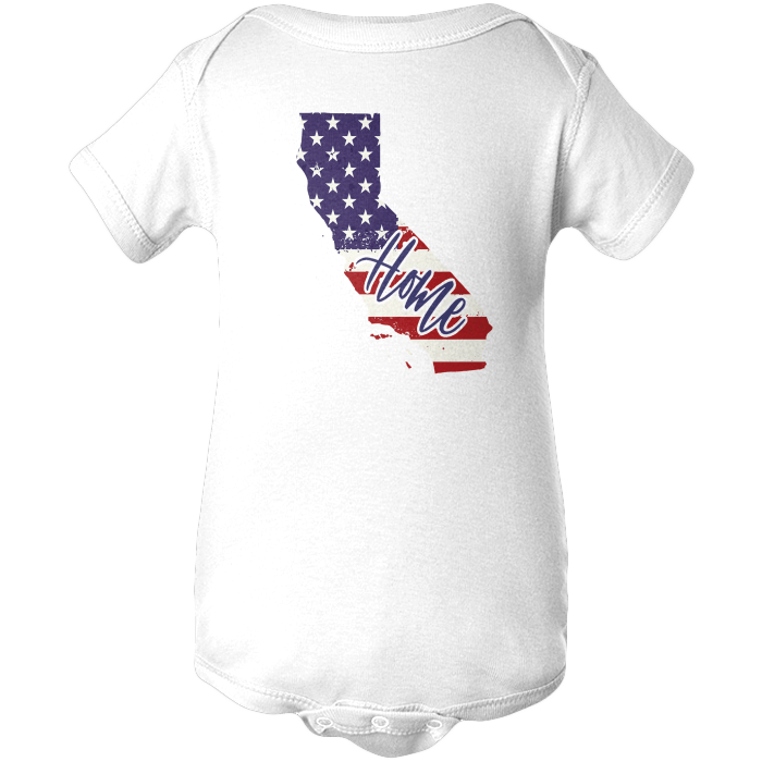 California Home Apparels BABY/INFANT ONESIE White NB