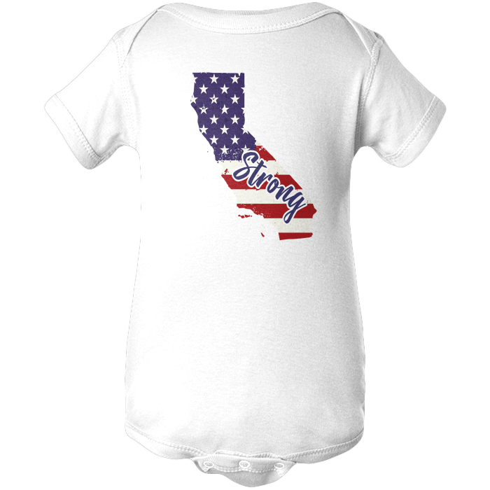 California Strong Apparels BABY/INFANT ONESIE White NB