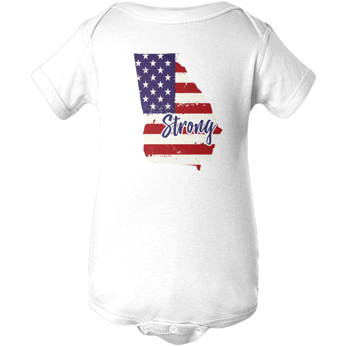 Georgia Strong Apparels BABY/INFANT ONESIE White NB