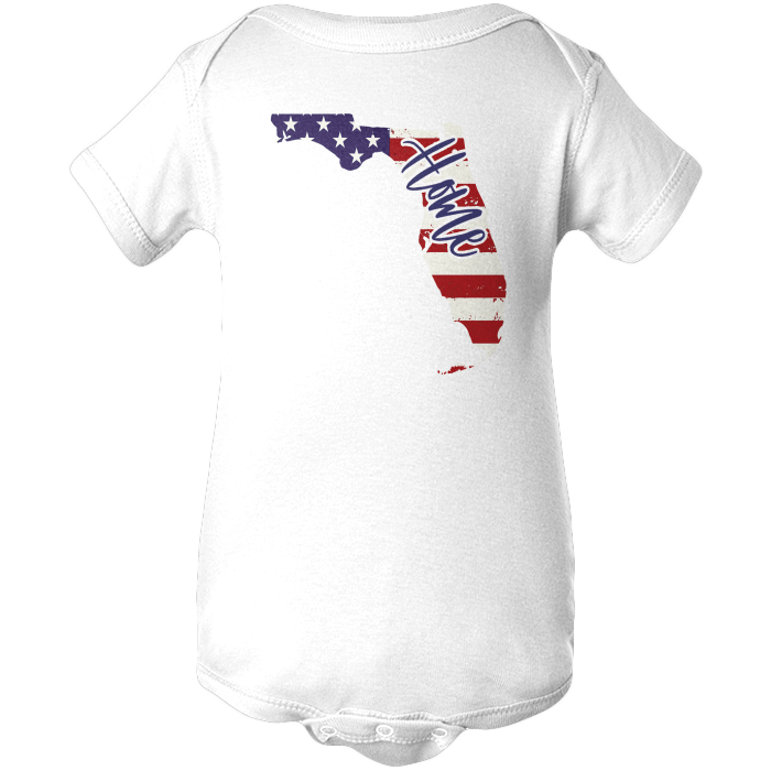 Florida Home Apparels BABY/INFANT ONESIE White NB