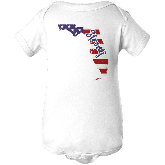 Florida Strong Apparels BABY/INFANT ONESIE White NB