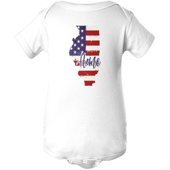 Illinois Home Apparels BABY/INFANT ONESIE White NB