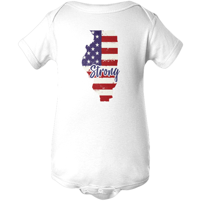 Illinois Strong Apparels BABY/INFANT ONESIE White NB