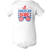 American Babe Apparels BABY/INFANT ONESIE White NB