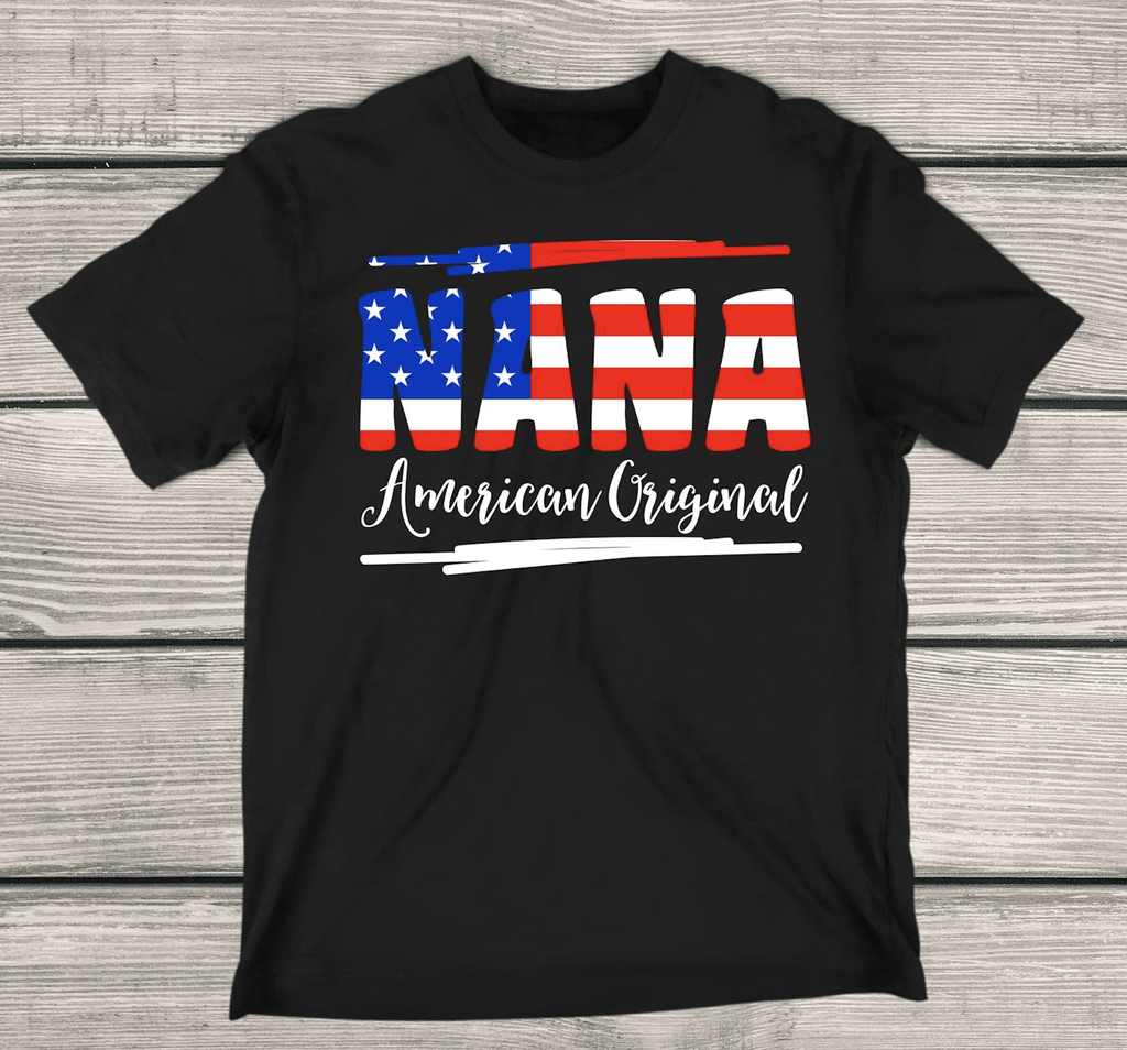 American Original Apparels Adult T-Shirt Black S