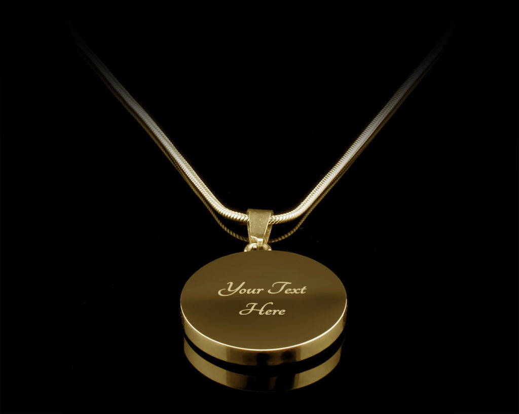 To My Mom Luxury Circle Necklace