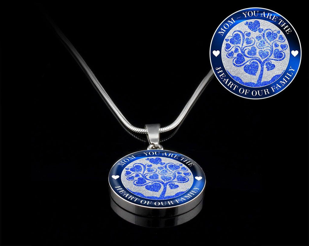 Heart Of The Family Luxury Necklace For Mom - Blue Jewelry