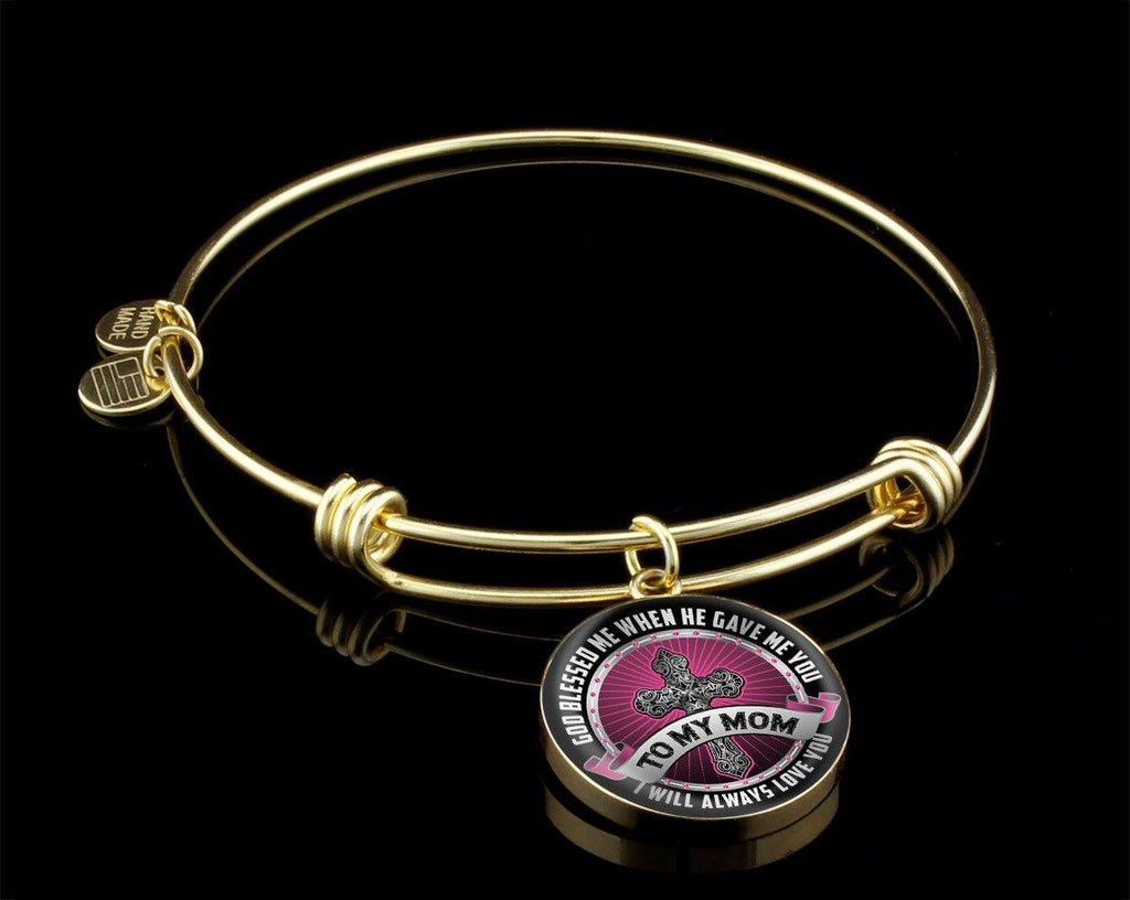 God Blessed Me When He Gave Me You Luxury Bangle Jewelry Luxury Bangle (Gold) Yes