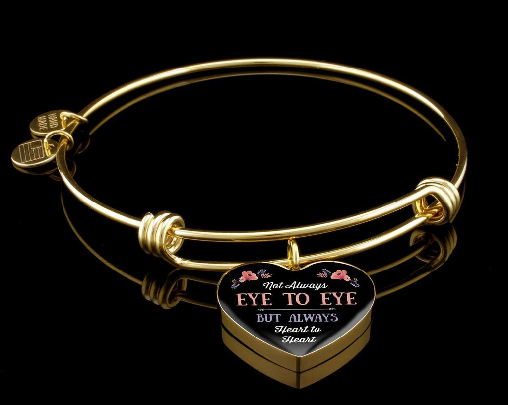Heart To Heart Luxury Heart Bangle Jewelry Luxury Bangle (Gold) Yes