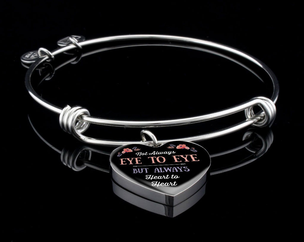 Heart To Heart Luxury Heart Bangle Jewelry Luxury Bangle (Silver) Yes