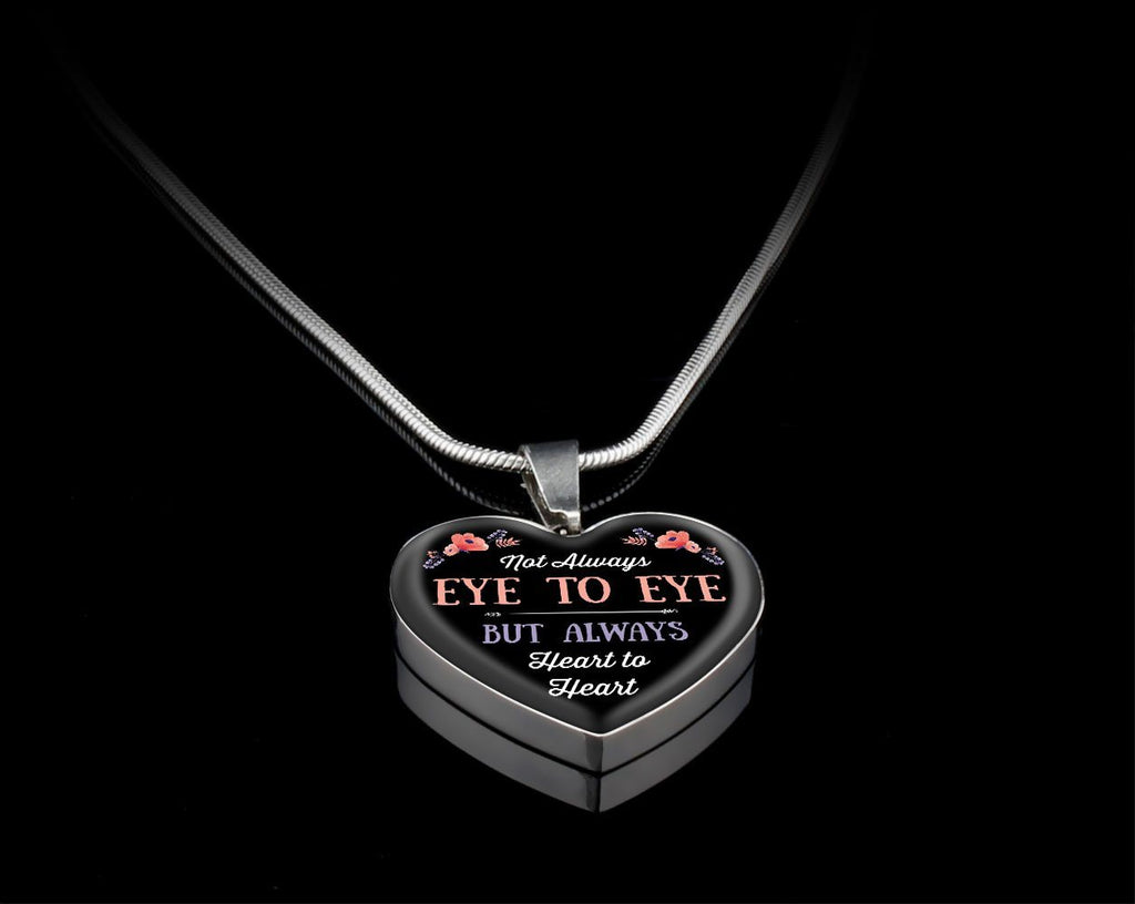 Heart To Heart Luxury Heart Necklace Jewelry Luxury Necklace (Silver) Yes