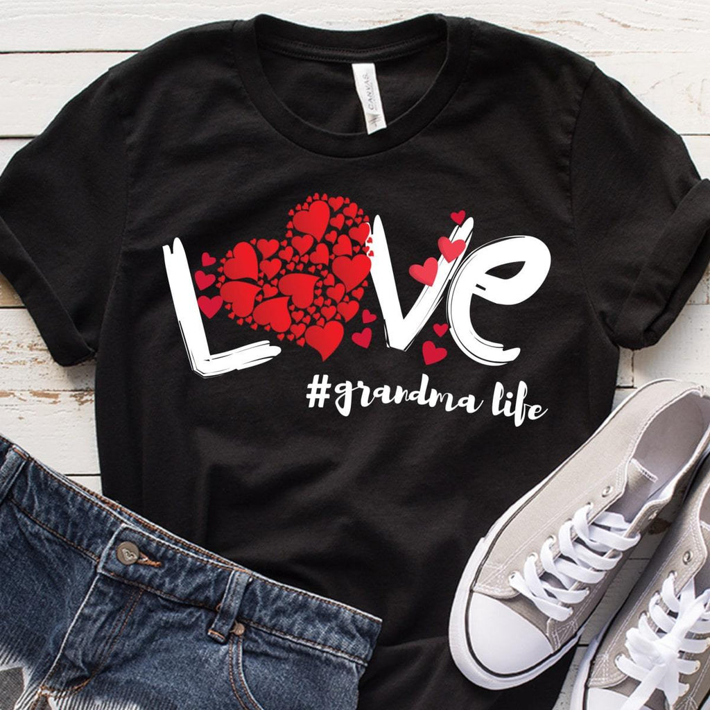 Love Grandma Life Budget Apparel Standard Fit Black S