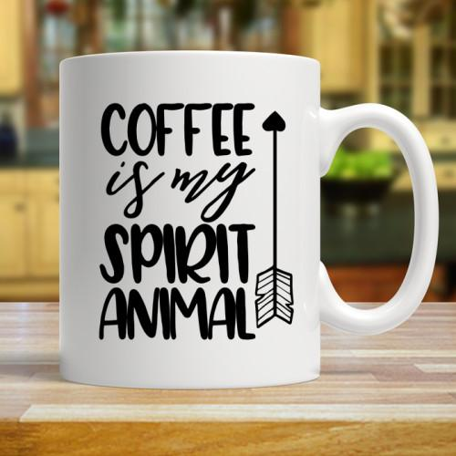 Coffee Is My Spirit Animal Mugs Mug 11oz