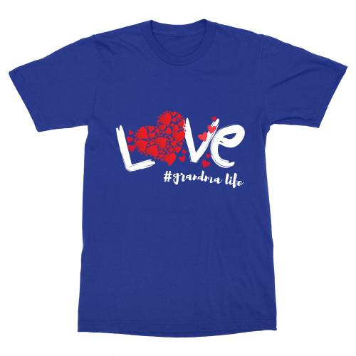 Love Grandma Life Budget Apparel Standard Fit Royal Blue S