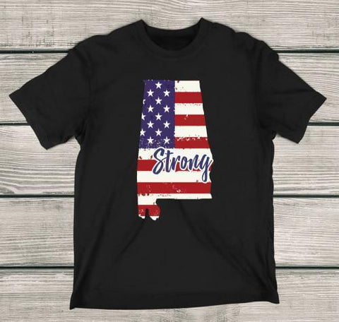Alabama Strong Apparels Adult T-Shirt Black S