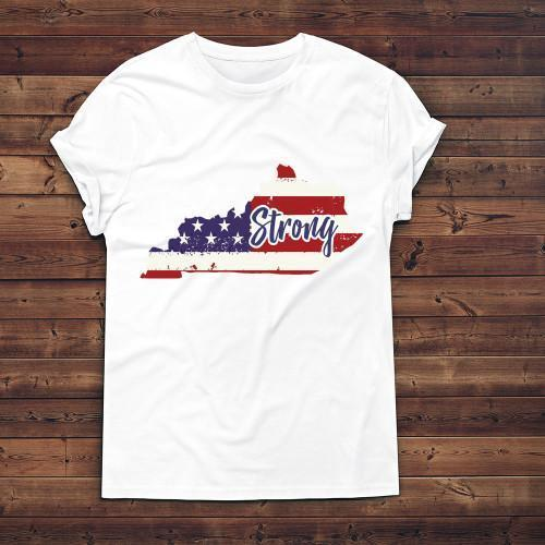 Kentucky Strong Apparels Kids T-Shirt White XS