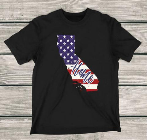 California Home Apparels Adult T-Shirt Black S