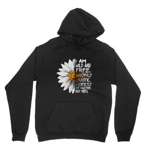 I am wild and free Apparel Adult Hoodie S