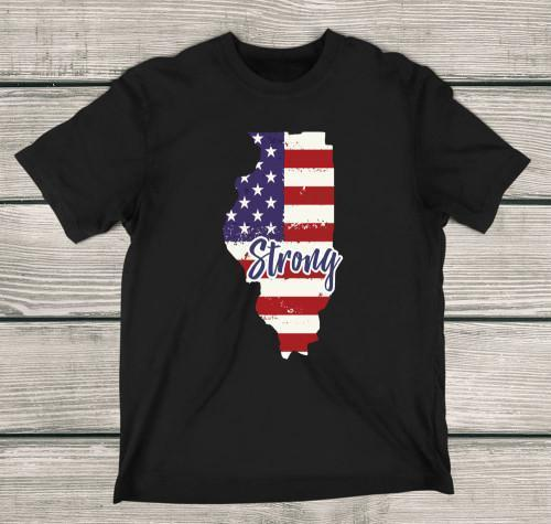 Illinois Strong Apparels Kids T-Shirt Black XS