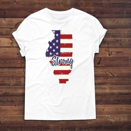 Illinois Strong Apparels Adult T-Shirt White S
