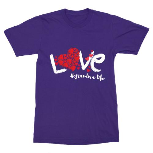 Love Grandma Life Budget Apparel Standard Fit Deep Purple S
