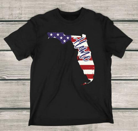 Florida Home Apparels Adult T-Shirt Black S