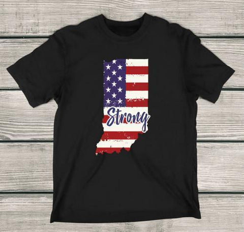 Indiana Strong Apparels Adult T-Shirt Black S