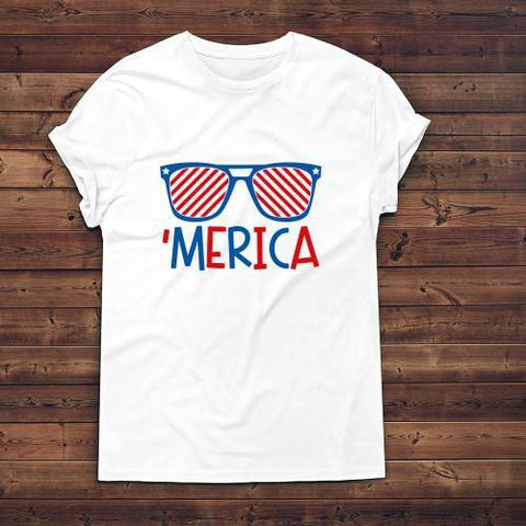 'Merica Apparels Adult T-Shirt White S