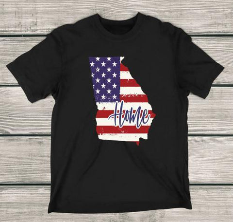 Georgia Home Apparels Adult T-Shirt Black S