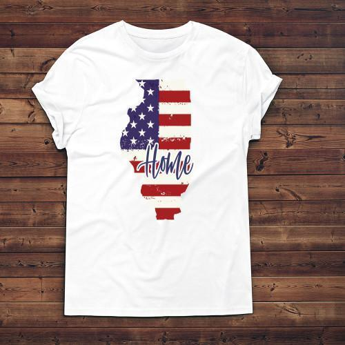 Illinois Home Apparels Adult T-Shirt White S