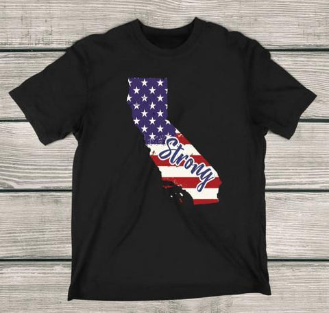 California Strong Apparels Adult T-Shirt Black S