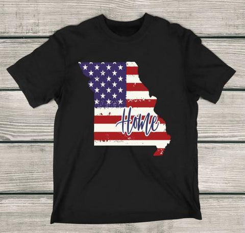 Missouri Home Apparels Adult T-Shirt Black S