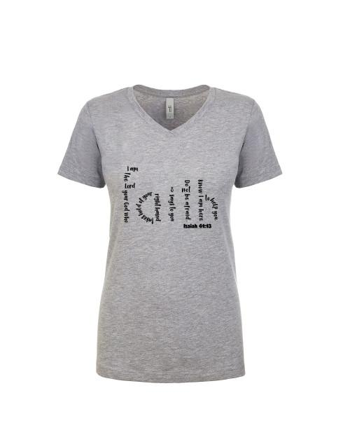 Adult T-Shirt Apparel Ladies V neck Tee Heather Gray S