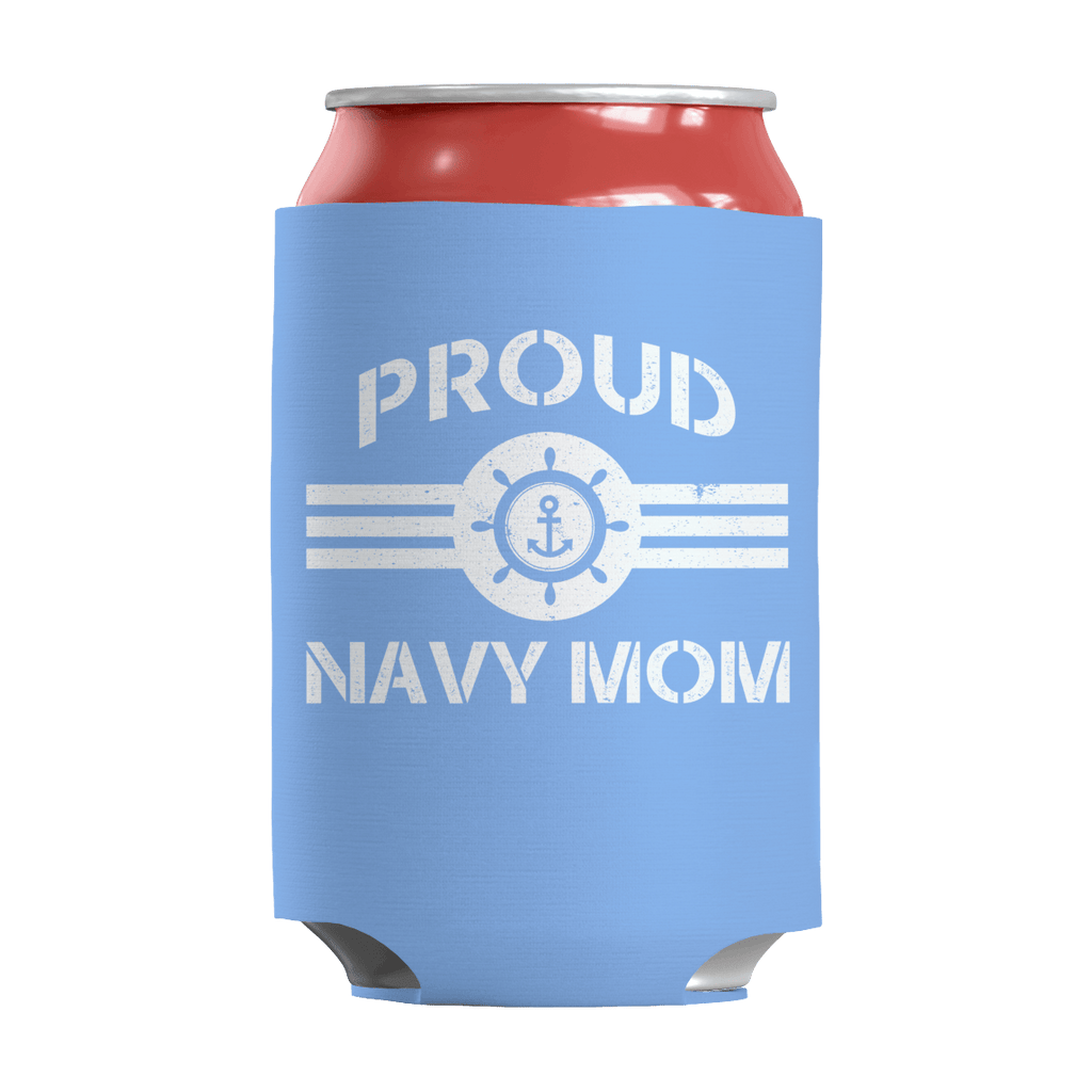 Limited Edition - Proud Navy Mom Can Wraps Can Wraps Light Blue
