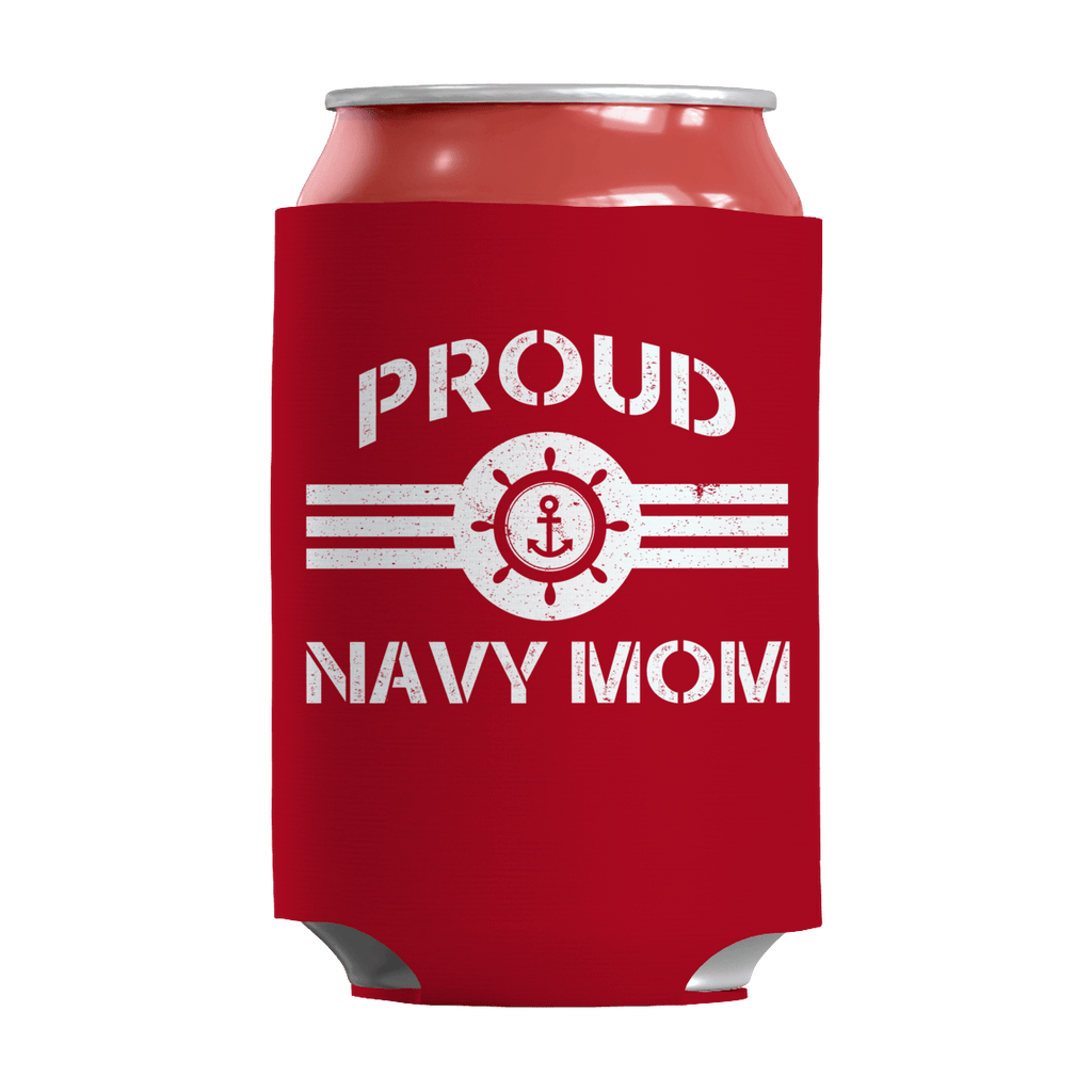 Limited Edition - Proud Navy Mom Can Wraps Can Wraps Red