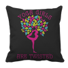 Limited Edition - Yoga Girls Are Twisted Pillow Cases Pillow Cases Black