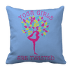 Limited Edition - Yoga Girls Are Twisted Pillow Cases Pillow Cases Light Blue