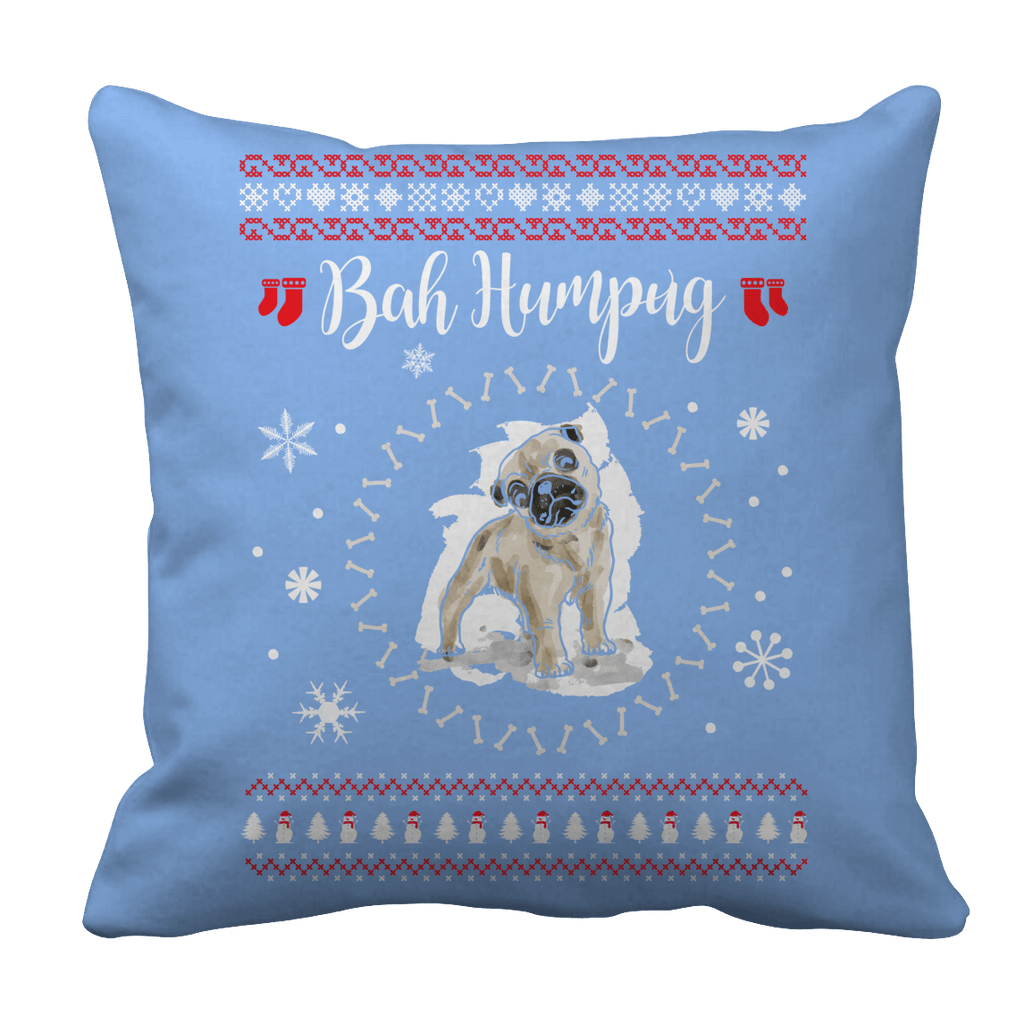 Limited Edition - Bah Humpug Pillow Cases Pillow Cases Light Blue