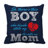 Limited Edition - So, There's this Boy who kinda stole my heart. He calls me Mom (hockey) Pillow Cases Pillow Cases Navy