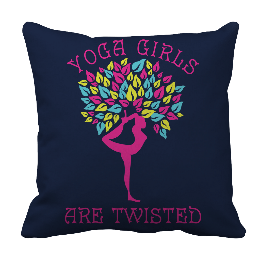 Limited Edition - Yoga Girls Are Twisted Pillow Cases Pillow Cases Navy
