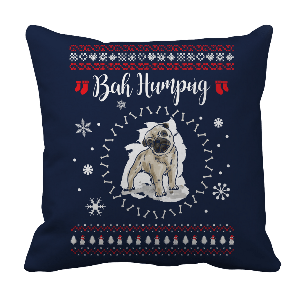 Limited Edition - Bah Humpug Pillow Cases Pillow Cases Navy