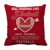 Limited Edition - Real Grandmas Love Football- San Francisco Pillow Cases Pillow Cases Red